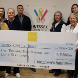 Wessex Cancer Trust cheque presentation