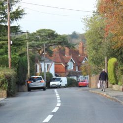 Photo showing resurfaced road at Fishbourne Lane Isle of Wight