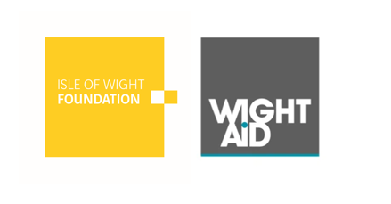 Isle of Wight Foundation and WightAid logos side by side