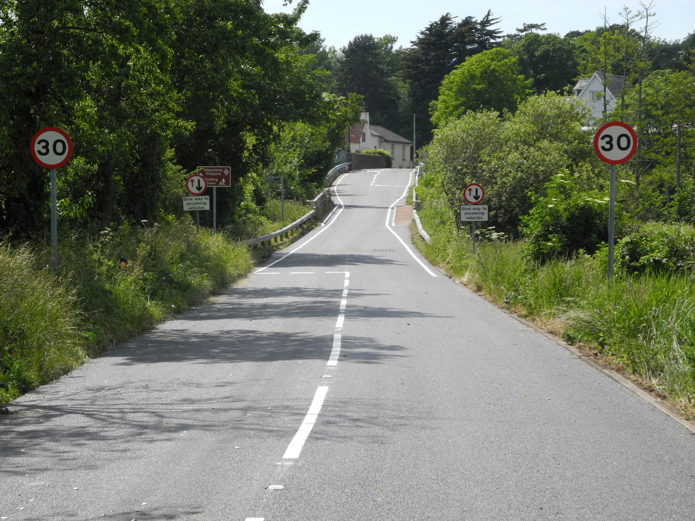 Photo showing newly resurfaced road at Marshcombe Shute