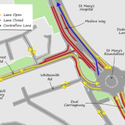 Traffic map 8 June to late July